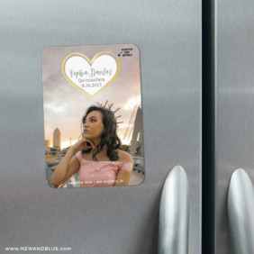 Lovestruck Quinceanera 3 Scratch Off Refrigerator Save The Date Magnets