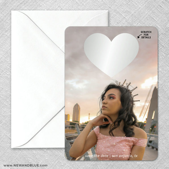 Lovestruck Quinceanera Classic Scratch Off Magnet