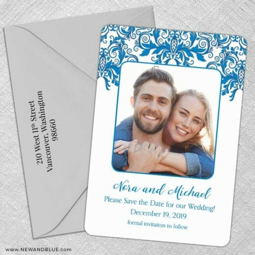 Lucca 5 Save The Date With Optional Color Envelope
