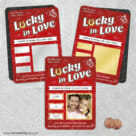 Lucky In Love Red 2 Scratch Off Save The Date Fridge Magnet