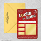 Lucky In Love Red 4 Scratch Off Save The Date With Optional Color Envelope