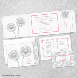 Lucy Combined All In One Wedding Invitation