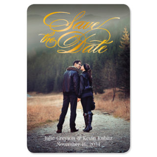 Luminous Love 1 Foil Save The Date Magnets