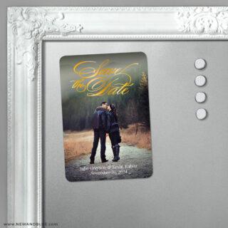 Luminous Love 5 Foil Save The Date Fridge Magnet