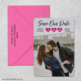 Magical Moments 3 Save The Date With Optional Color Envelope