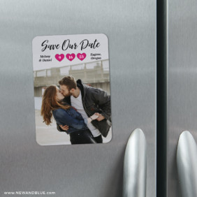 Magical Moments 4 Refrigerator Save The Date Magnets