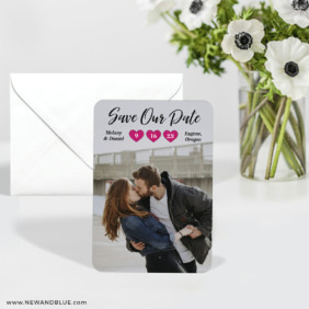 Magical Moments 6 Wedding Save The Date Magnets With Envelope