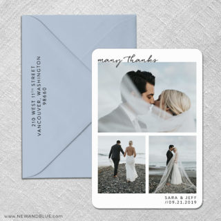 Many Thanks 3 Save The Date With Optional Color Envelope