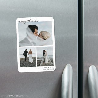 Many Thanks 4 Refrigerator Save The Date Magnets