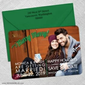 Marry Marry 5 Save The Date With Optional Color Envelope