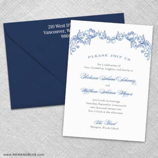 Marthas Vineyard 3 Invitation And Color Envelope