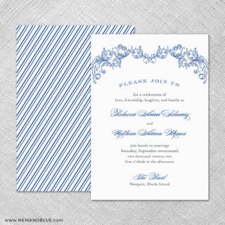 Marthas Vineyard 4 Invitation Shown With Back Printing