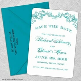 Marthas Vineyard 5 Save The Date With Optional Color Envelope
