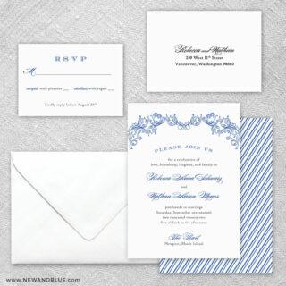 Marthas Vineyard 5 Wedding Invitation And Rsvp Card