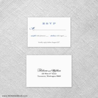 Marthas Vineyard 6 Reception Card And Rsvp Card