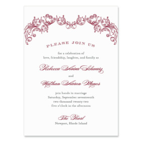 Marthas Vineyard Wedding Invitation