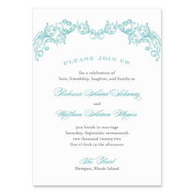 Marthas Vineyard Wedding Invitation