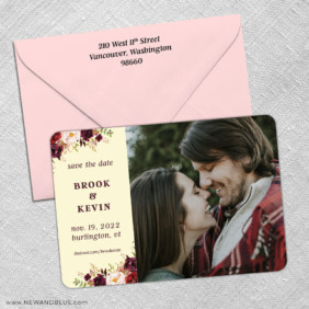 Meant To Be 3 Save The Date With Optional Color Envelope