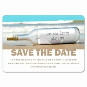 Message In A Bottle 1 Save The Date Magnets