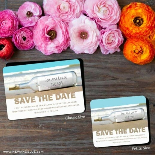 Message In A Bottle 2 Save The Date Magnet Classic And Petite Size