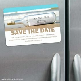 Message In A Bottle 3 Refrigerator Save The Date Magnets