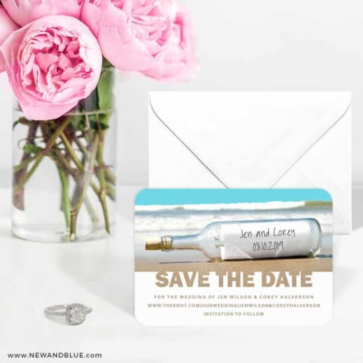 Message In A Bottle 6 Wedding Save The Date Magnets