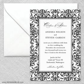 Milan 2 Invitation And Envelope