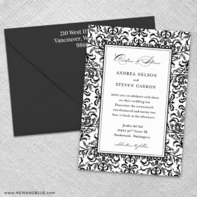 Milan 3 Invitation And Color Envelope