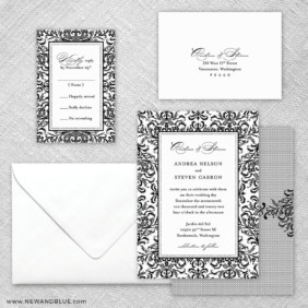 Milan 5 Wedding Invitation And Rsvp Card
