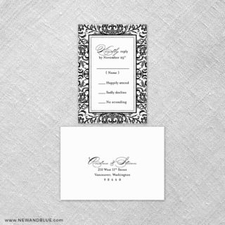 Milan 6 Reception Card And Rsvp Card