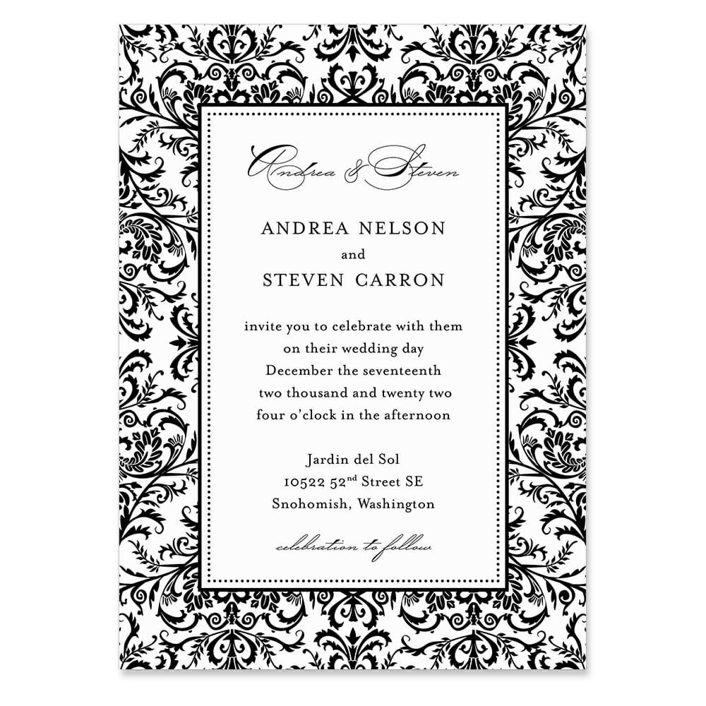 Milan Invitation Shown In Color Black