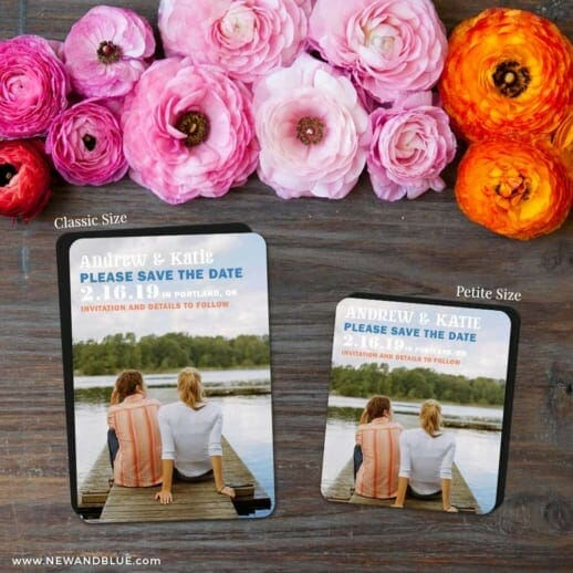 Mirror Lake 2 Save The Date Magnet Classic And Petite Size