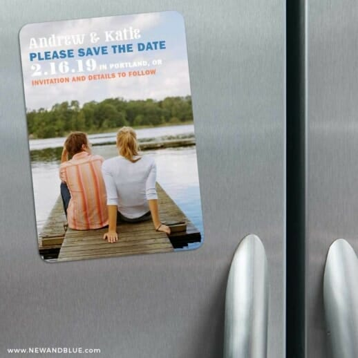 Mirror Lake 3 Refrigerator Save The Date Magnets