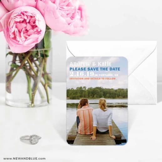 Mirror Lake 6 Wedding Save The Date Magnets