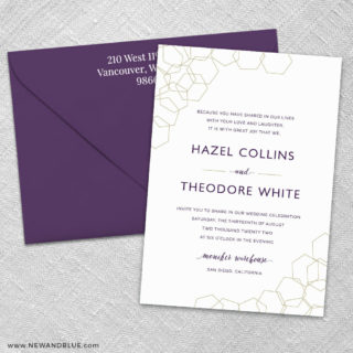 Mod Geo 3 Invitation And Color Envelope