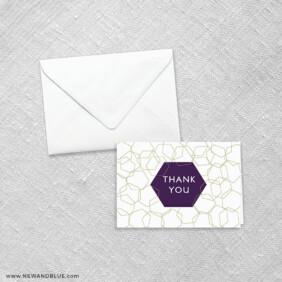 Mod Geo 8 Thank You Card