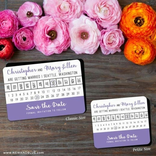 Modern Calendar 2 Save The Date Magnet Classic And Petite Size