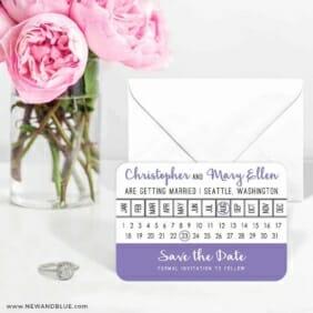Modern Calendar 6 Wedding Save The Date Magnets