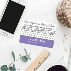 Modern Calendar 7 Wedding Save The Date Magnets