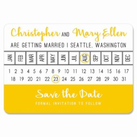 Modern Calendar 1 Save The Date Magnets