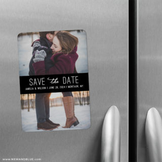 Montauk 2 Save The Date Refrigerator Magnet