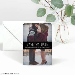 Montauk 3 Save The Date Magnet With Envelope