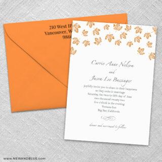 Monterey 3 Invitation And Color Envelope