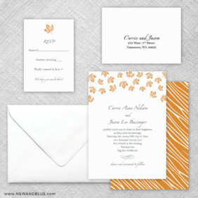 Monterey 5 Wedding Invitation And Rsvp Card