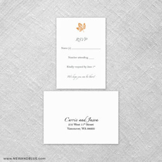 Monterey 6 Reception Card And Rsvp Card