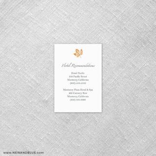 Monterey 7 Reception Card