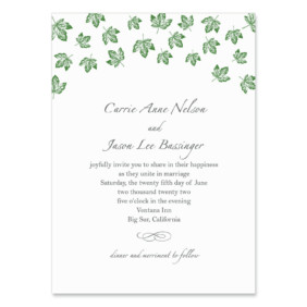 Monterey Wedding Invitation