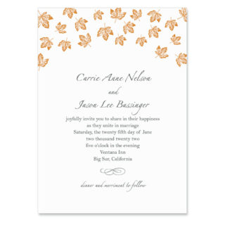 Monterey Wedding Invitation