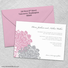 Moon River 3 Invitation And Color Envelope