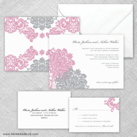 Moon River 5 Wedding Invitation And Rsvp Card
